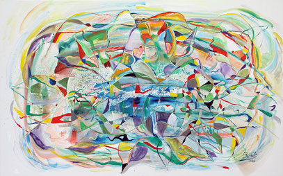 VERDE QUE TE QUIERO VERDE, acrylique sur toile, 116 x 73 cm, 2020