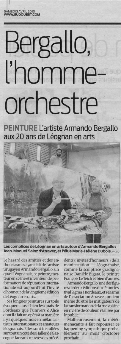 Sud Ouest - 3 avril 2010