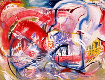 ANIMA, huile sur toile, 120 x 100 cm, 1992