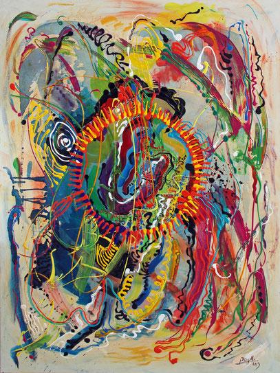 ORIGEN, acrylique sur toile, 130 x 97 cm, 2013
