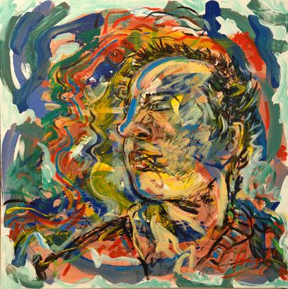 SONORO, acrylique sur toile, 90 x 90 cm, 2005