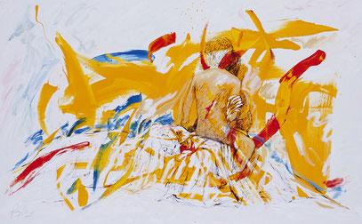 AMANECE, acrylique sur toile, 160 x 100 cm, 2005