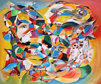 BELLO DE LUZ, acrylique sur toile, 120 x 100 cm, 2010