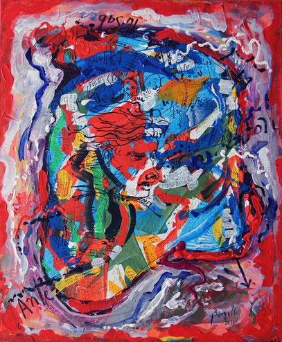 CONOCIMIENTO, acrylique sur toile, 50 x 60 cm, 2011