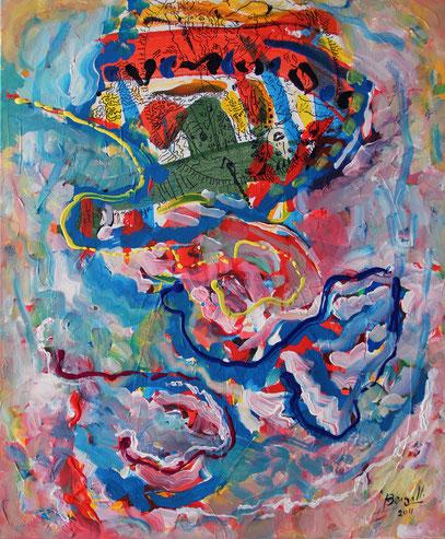 MURMULLOS, acrylique sur toile, 50 x 60 cm, 2011