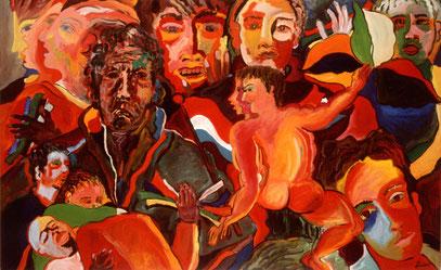 LES NOCES DE CADMOS, huile sur toile, 160 x 120 cm, 1999