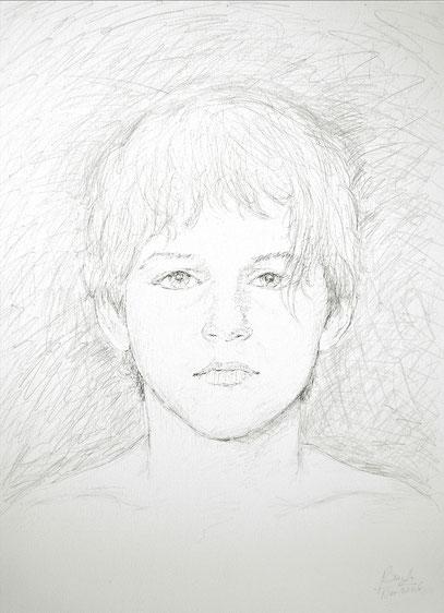 ADOLESCENT, créon sur toile, 60 x 80 cm, 2006