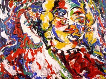 MUJERES, acrylique sur toile, 140 x 130 cm, 1999