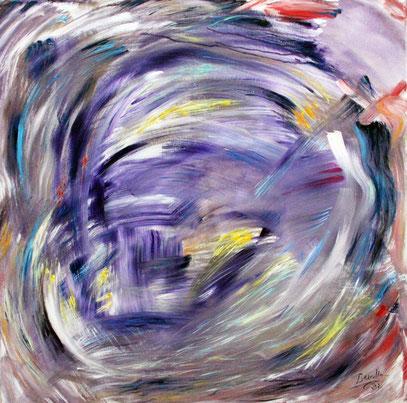 EL VIENTO, acrylique sur toile, 100 x 100 cm, 2021