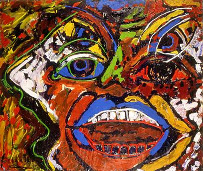 LA FURIA 6, acrylique sur toile, 100 x 100 cm, 1997