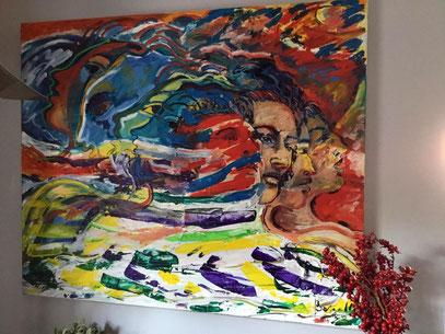 ÉVOCATION, acrylique sur toile, 120 x 100 cm, 2002