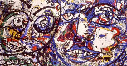 LA FURÍA 3, acrylique et huile sur toile, 200 x 100 cm, 1997