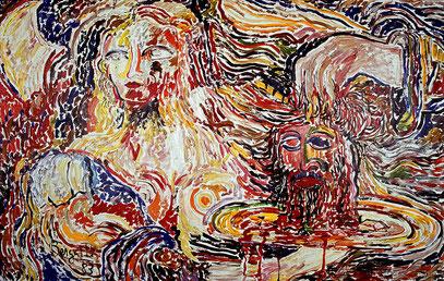 SALOMÉ, acrylique sur toile, 3.30 m x 2.20m 1983