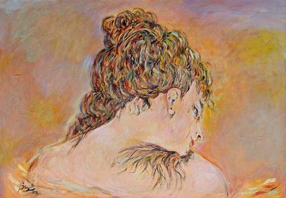 FÉMININ, acrylique sur toile, 100 x 70 cm, 2020