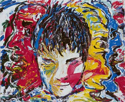 SURDIÓ DE UN NOMBRE DE MUJER, acrylique sur toile, 100 x 120 cm, 2005