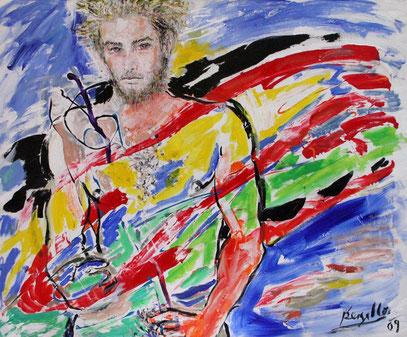 ACTE INAUGURAL, acrylique sur toile, 120 x 100 cm, 2009