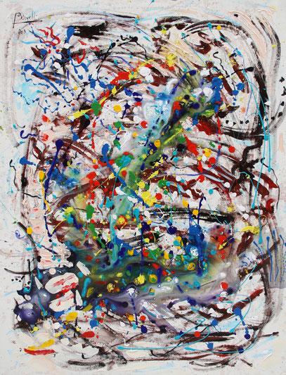 UNION INFINIE, acrylique sur toile, 89 x 116 cm, 2013