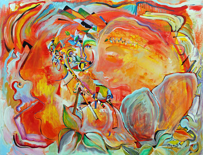 CHANT D'AUTOMNE, acrylique sur toile, 116 x 90 cm, 2020