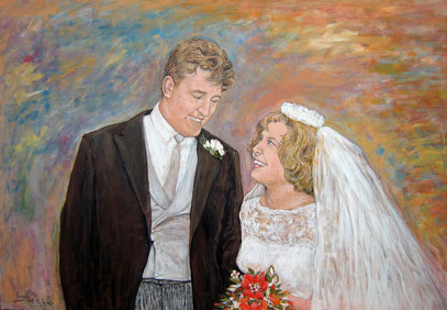 David and Susan Hurlock, acrylique sur toile, 100 x 70 cm, 2008