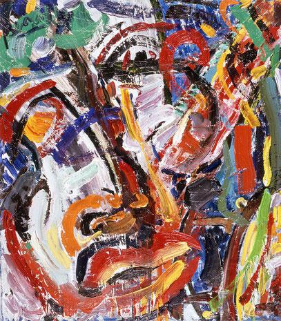 SAGEN, huile sur toile, 80 x 60 cm, 1987