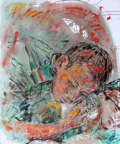 EL SOLDADO ESPAÑOL, acrylique sur toile, 100 x 120 cm, 2006