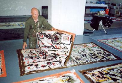 LIVRE, acrylique sur coton, 220 x 120 cm, 1990
