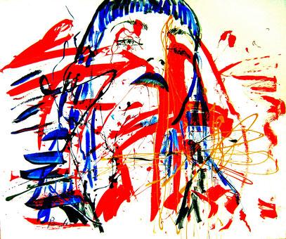 EL DESAFÍO, acrylique sur toile, 120 x 100 cm, 2001