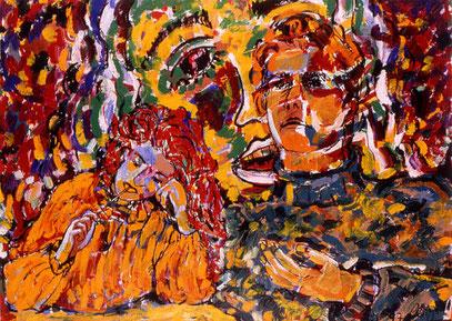 SUEÑO DE MUJER, acrylique sur papier, 70 x 10000 cm, 1997
