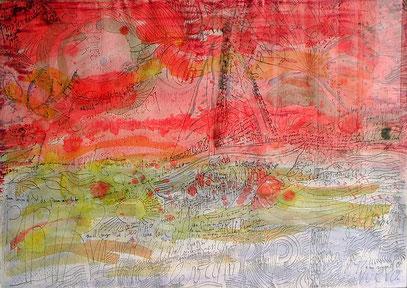 TO FREEK, encre et crayon sur papier, 100 x 70 cm, 1992