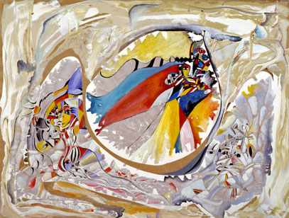 COMEDIA DE ENSUEÑO, huile sur toile, 100 x 700 cm, 1988