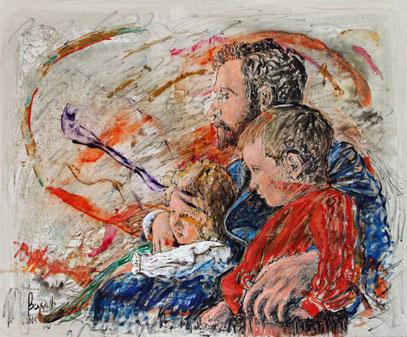 PATERNIDAD, acrylique sur toile, 120 x 100 cm, 2008