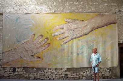 HUMANO, acrylique sur toile, 7 x 3 m, 2019