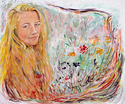 Jeunesse, acrylique sur toile, 120 x 100 m, 2018