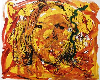 EL ADOLESCENTE acrylique sur toile, 120 x 100 cm, 2000