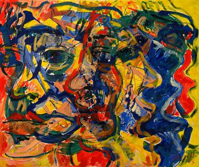 PERFILES, acrylique sur toile, 120 x 100 cm, 2005