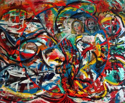 CIRCULO UNIVERSAL, huile sur toile, 160 x 130 cm, 1995