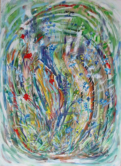 ESPÉRANCE, acrylique sur toile, 73 x 100 cm, 2018