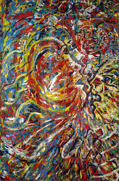 LA FÊTE, acrylique sur toile, 3.50 x 2.20 m, 1995