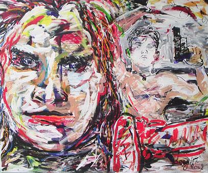 DESDE LA MEMORIA, acrylique sur toile, 100 x 120 cm, 2002