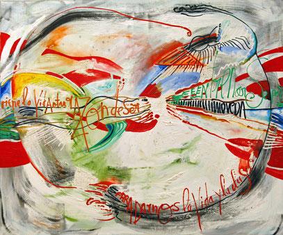 DARNOS LA VIDA, huile sur toile, 120 x 100 cm, 1990
