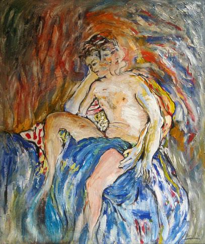 FRANK, huile sur toile, 110 x 130 cm, 1995