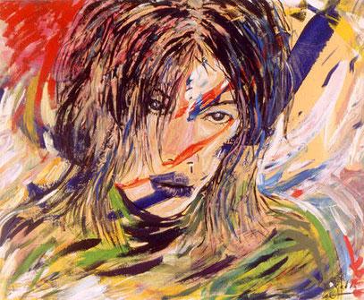 EL ORIENTAL, acrylique sur toile, 100 x 120 cm, 2001
