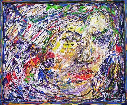 MELANCOLÍA, collage sur bois 120 x 100 cm, 2006