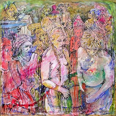 SALOMÉ, acrylique sur toile, 100 x 100 cm, 2006