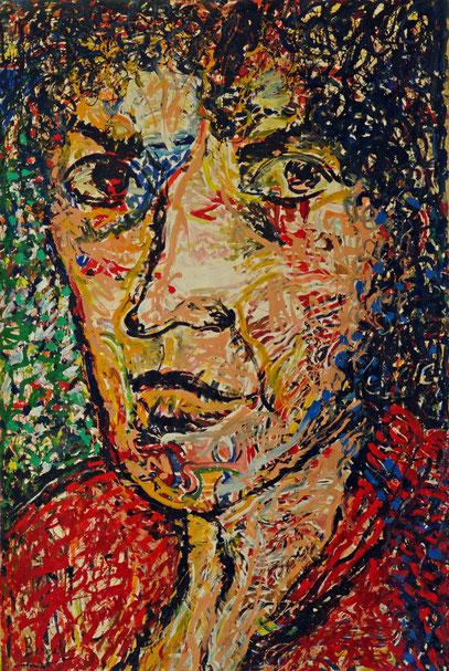 YVONNE KEULS - ÉCRIVAIN , acrylique sur toile, 3,5 m x 2,2 m, 1998