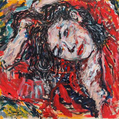 MÉGARE, acrylique sur toile, 80 x 80 cm, 2010
