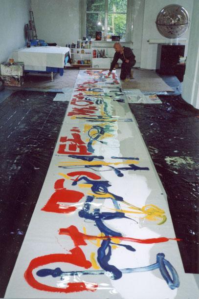 SIGNO, acrylique sous acetat, 1990