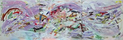 EVOCATION, acrylique sur toile, 240 x 80 cm, 2013