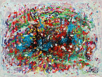 LUMIÈRE D'AQUITAINE, acrylique sur toile, 80 x 60 cm, 2018