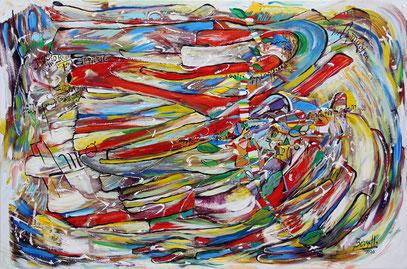 LE FLUX, acrylique sur toile, 120 x 80 cm, 2020